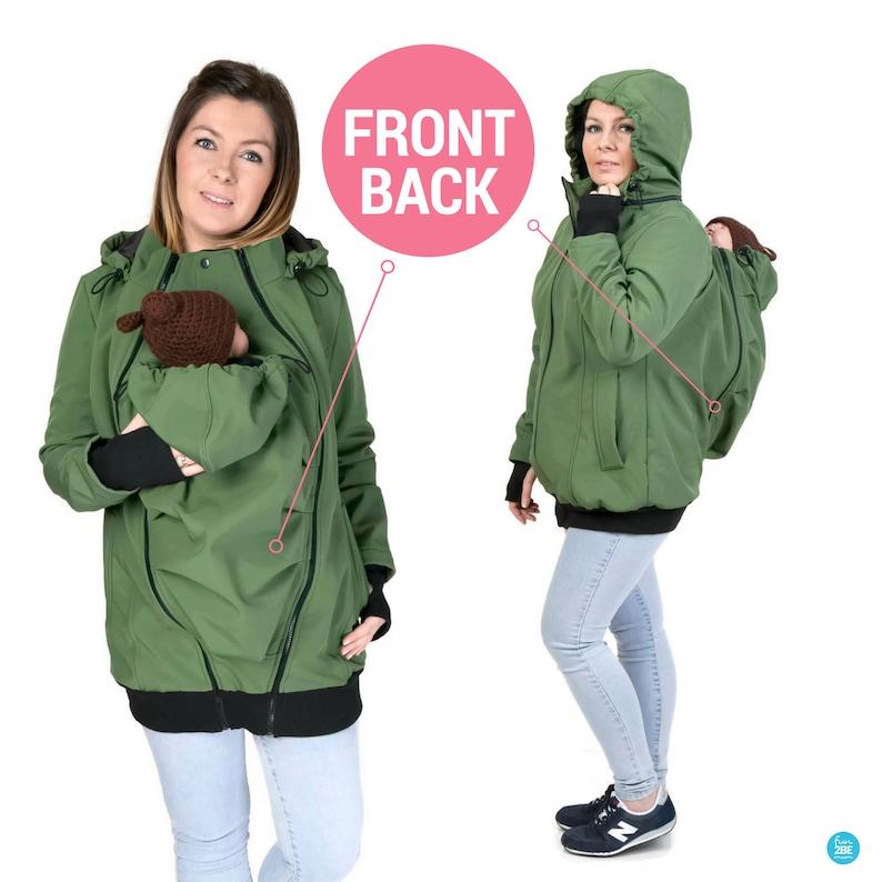 c5769330fe0 BACK/FRONT Softshell Babywearing jacket maternity coat | Etsy