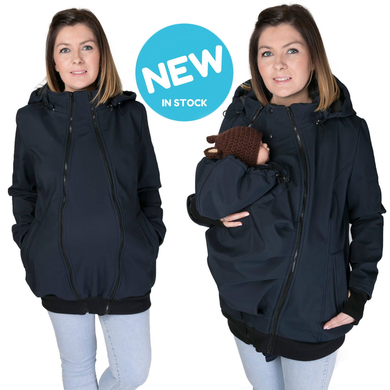 New Front Softshell Babywearing Coat Maternity Coat
