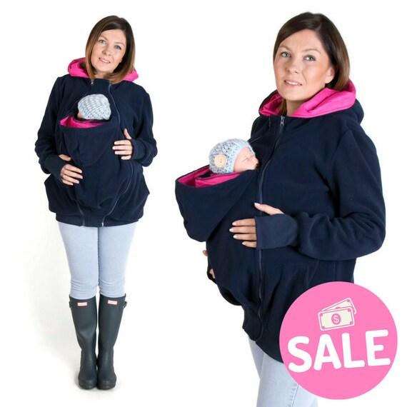 baby NP01 Mom for Multifunctional hoodie LUNA Baby and Pregnancy Kangaroo jacket Babywearing carrying hoodie PINK NAVY Maternity 3in1 TwfxT7