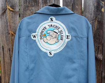 09602e6626 1970's Polyester LEVIS Jacket with 1980's Popeye's Yacht Club Patch