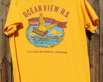 1970 s Ocean View High School Graphic T shirt 209d5a3b46b05