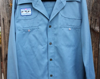 1970's Polyester LEVIS Jacket with 1980's Popeye's Yacht Club Patch 5cBqc