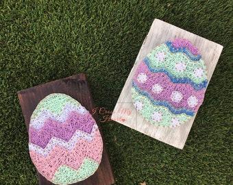 String Art Easter Eggs, Easter String Art, Easter Eggs, Easter Decor
