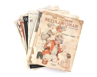 Vintage Magazines . Vintage Ephemera . old magazines . vintage paper ephemera . ephemera lot . antique ephemera . advertisement ephemera #t0