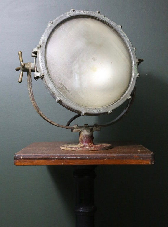 Crouse Hinds Vintage Search Light Spotlight Industrial Lamp Etsy