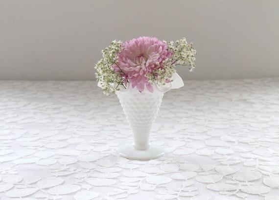 Vintage Milk Glass Vase Small Milk Glass Vase White Vase Etsy