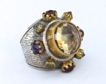 Vintage Citrine Maharaja Ring