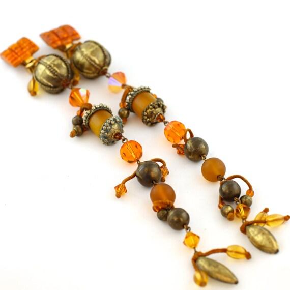 Stunning Vintage Romeo Gigli Orange Italian Long D