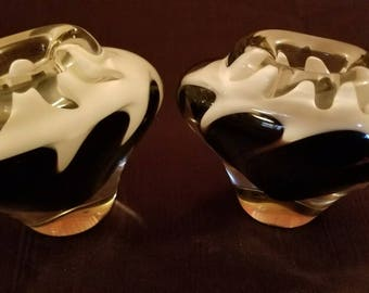 2 Flygfors Bud Vases by Paul Kedelv Rare Matching Pair
