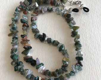b5e136cbba24 Fancy Jasper Chip Beaded Eyeglass Chain-Sunglass Chain-Eyeglass Holder-Chain  for Glasses-Necklace