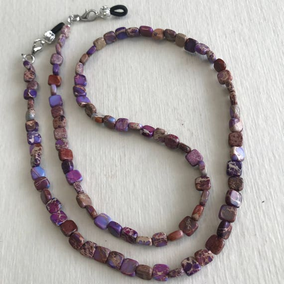 Beaded Eyeglass Chain With Clips ATLanyards Pretty in Pink Eyeglass Holder
