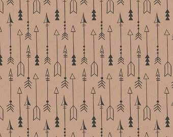 Equestrian Arrows Fabric - Brown Sugar - sold by the 1/2 yard