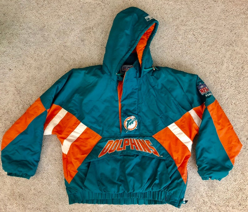 the best attitude 5a7b7 13d7b Vintage XL Miami Dolphins Starter Adult Jacket / Size: XL / Proline /  Winter / Vintage Outerwear / NFL / Jacket / Gift / Football / Parka