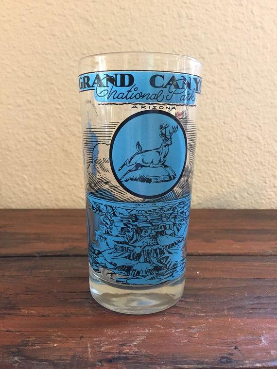 Vintage State Glasses/ Oklahoma/ California/ Grand Canyon/ Texas/ 1960's