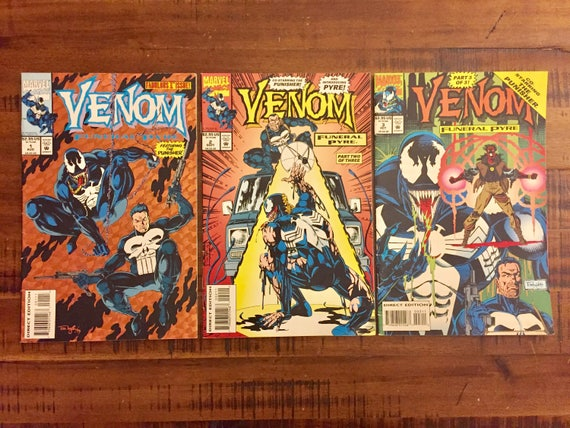 1993 Venom Funeral Pyre #1, #2 and #3 Comic Books/ Punisher/ Marvel Comics/  VF-FN/ Choose One or All for a Discounted Price!