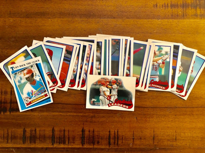 Complete St Louis Cardinals 1989 Topps Team Set 33 Total Mlb Baseball Cards Gift Mlb Dad Vintage Retro Near Mint Condition