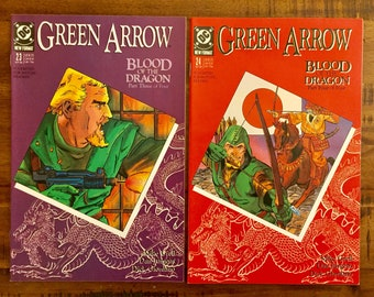 1989 Green Arrow #23 and #24 Comic Books/NM-VF/DC Comics /Mike Grell/Blood of the Dragon Series/Choose One or Both For a Discounted Price!!!