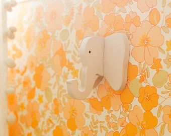 A Beautiful Mess x Etsy Elephant Wall Hook: wooden hanger for bags, hats, & backpacks - elephant gift for safari nursery and kids' rooms