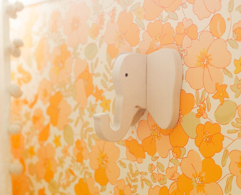 A Beautiful Mess x Etsy Elephant Wall Hook: wooden hanger for image 0