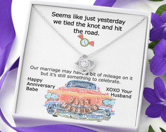 Retro Anniversary Necklace Gift for Wife