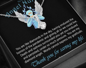 Angel Nurse Necklace Thank You Gift