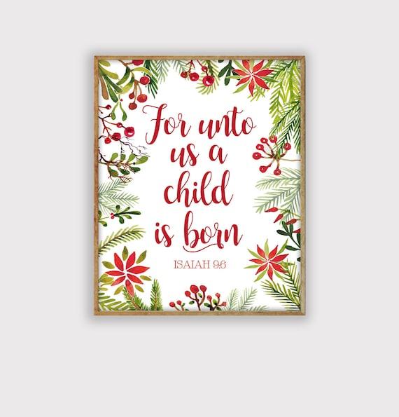 image relating to Printable Christmas Art named Xmas Scripture Print, Xmas Artwork Printable, LDS Xmas Print