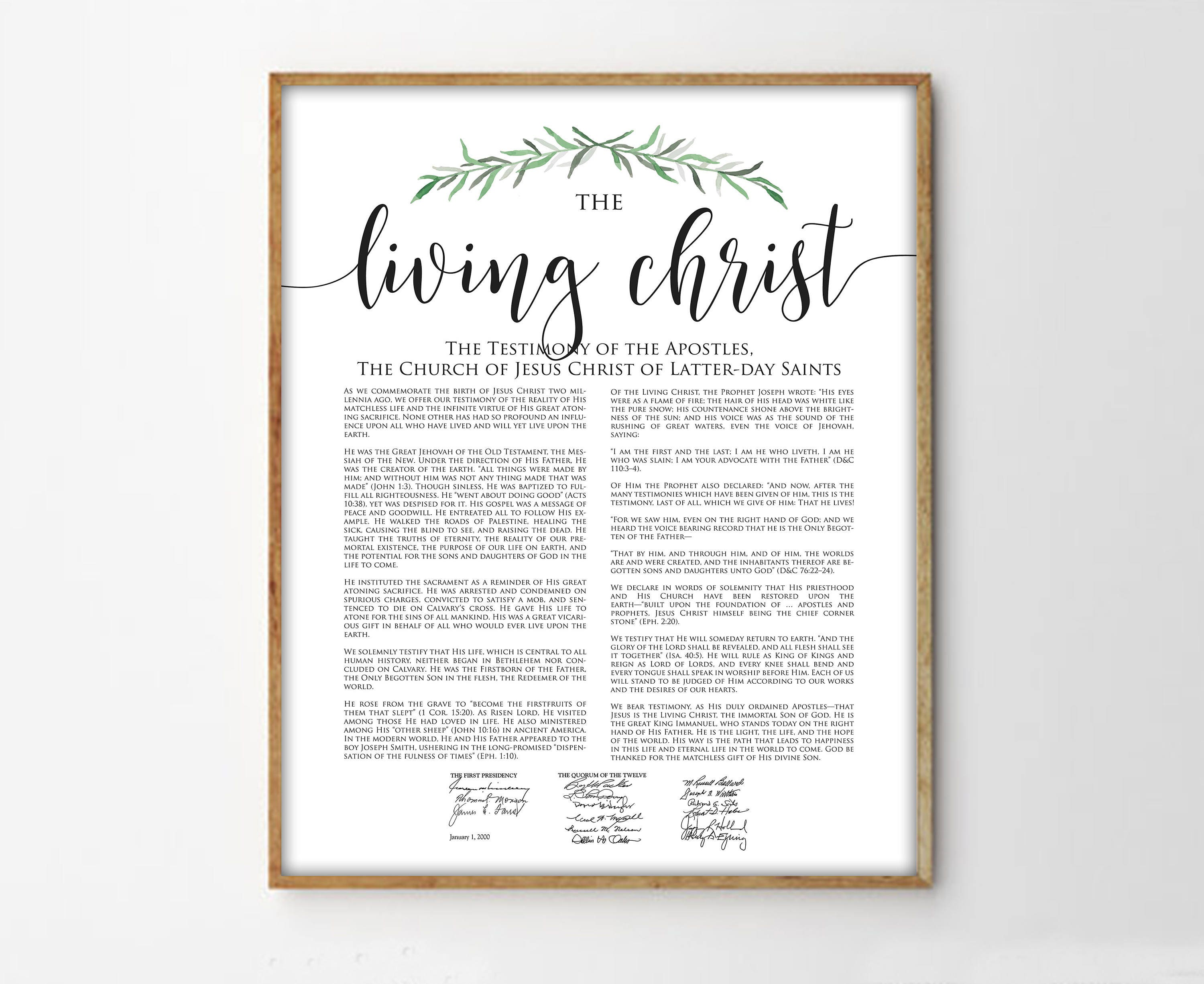 It is a photo of Massif The Living Christ Printable