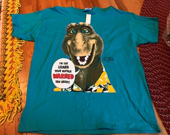 62084f0b1430 90s Dinosaurs Roy vintage deadstock NWT t-shirt rare Disney earl baby Vhs  promo new with tags classic hipster retro single stitch cool htf