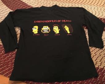 63cd4c37d 90s S.O.D. Stormtroopers of Death vintage Simpsons parody t-shirt rare band  tee concert album tour sod thrash heavy metal long sleeve