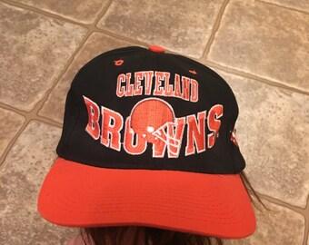 991f9b14895 ... clearance 90s cleveland browns vintage snapback hat baseball cap  trucker rare old school nfl football team