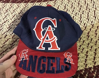 f24eaf4ff7e 90s California Angels vintage snapback hat mlb baseball cap classic angels  in the outfield hipster team World Series dad gift shirt cool 80s