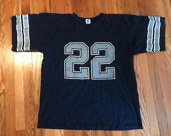 40b3935c01a 90s Emmitt Smith vintage Dallas Cowboys Logo 7 jersey t-shirt football nfl  superbowl classic legend sports sportswear troy aikman cool htf