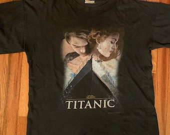 6251a6fdb9 90s Titanic vintage t-shirt rare old school retro hipster ironic film movie  leonardo dicaprio kate winslet awesome funny james cameron htf