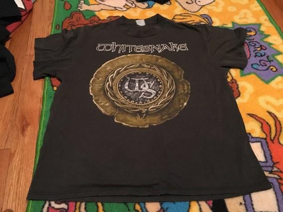 b1233f09401 1989 Whitesnake vintage t-shirt rare band metal heavy hair