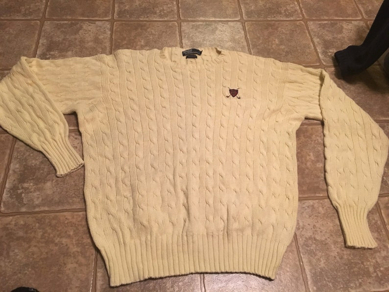 Polo Ralph Lauren Polo USA Cookie Wool Turtleneck Sweater Vintage Tech Ski XL