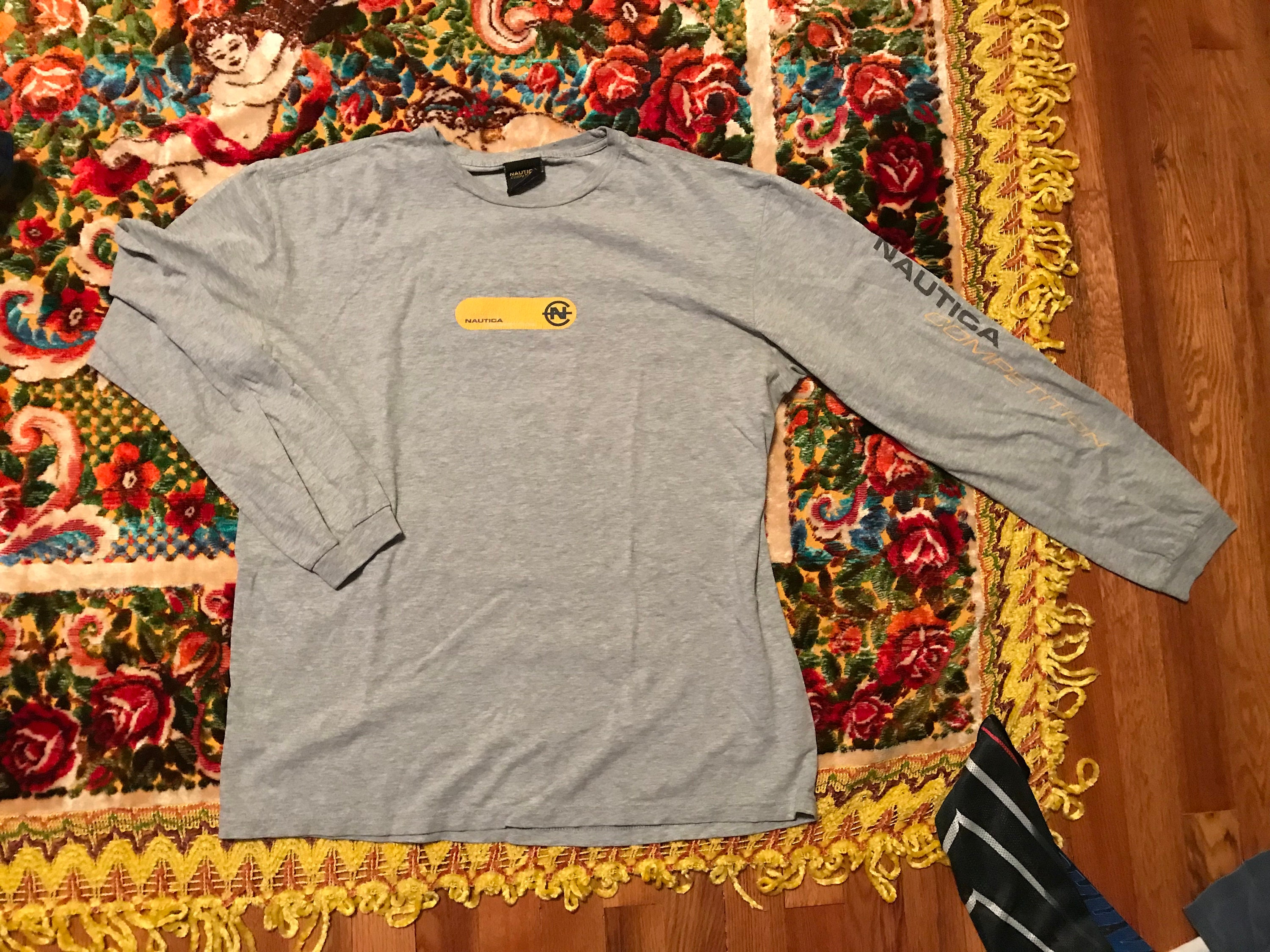 90s Nautica vintage long sleeve t-shirt rare hipster lil boat  7a5580eb1cf