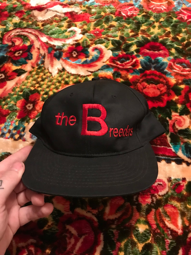 90s The Breeders vintage snapback hat original extremely rare  7a3f59fdb4b6