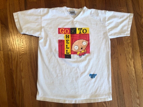 """90s Family Guy Stewie """"Go to Hell"""" vintage t-shirt"""