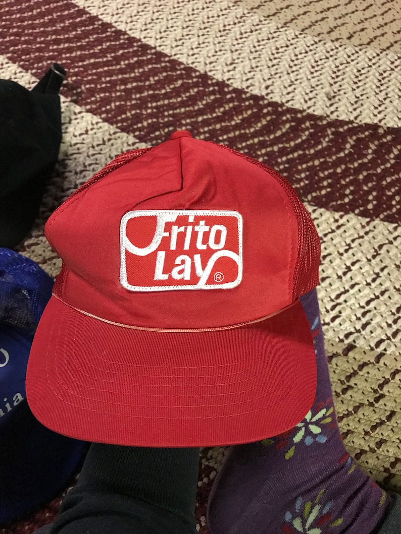 684c35d18ee5a 80s Frito Lay vintage snapback hat trucker style dad baseball