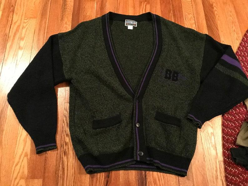 c2f9f4ec8f5b7 90s Bugle Boy vintage acrylic cardigan sweater amazing
