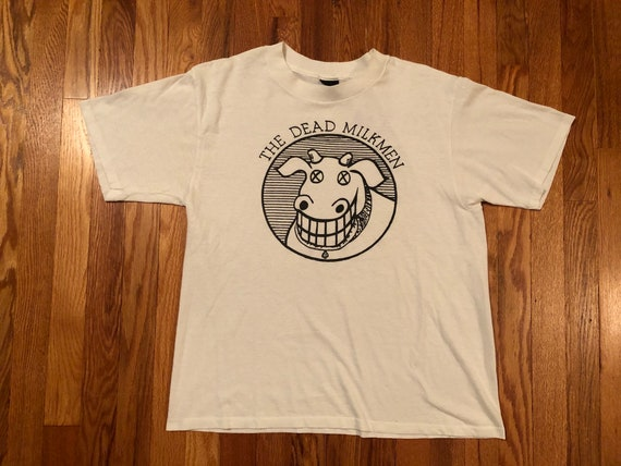 80s The Dead Milkmen vintage t-shirt original sing