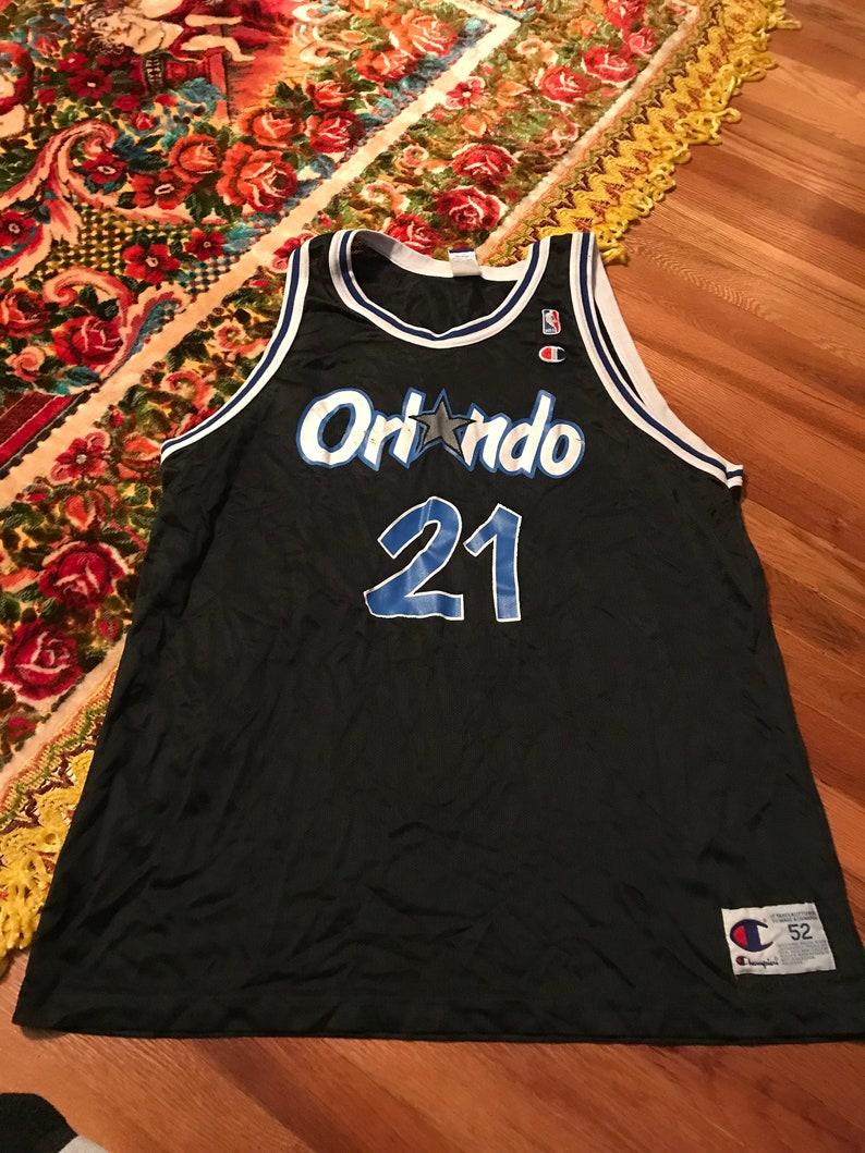 new arrival 21f61 de397 90s Gerald Wilkins Orlando Magic vintage Champion jersey nba basketball  team shaq penny hardaway Michael Jordan stopper extremely htf rare