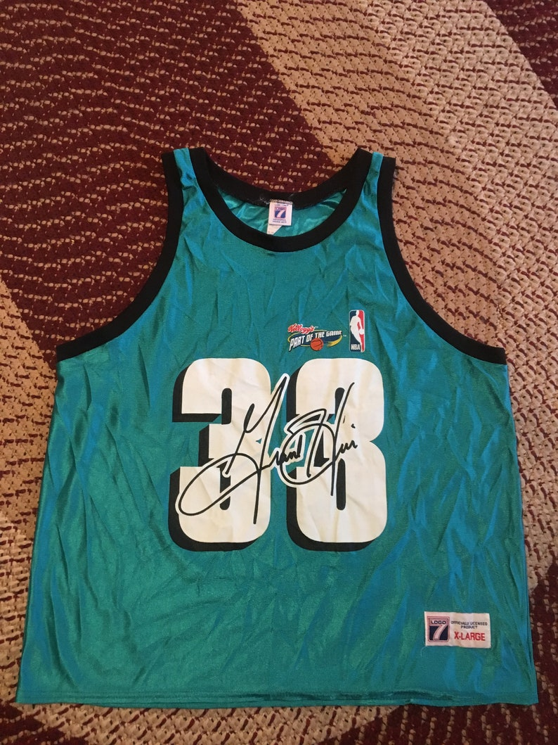 f9d921d71 90s Grant Hill vintage Logo 7 basketball jersey authentic NBA