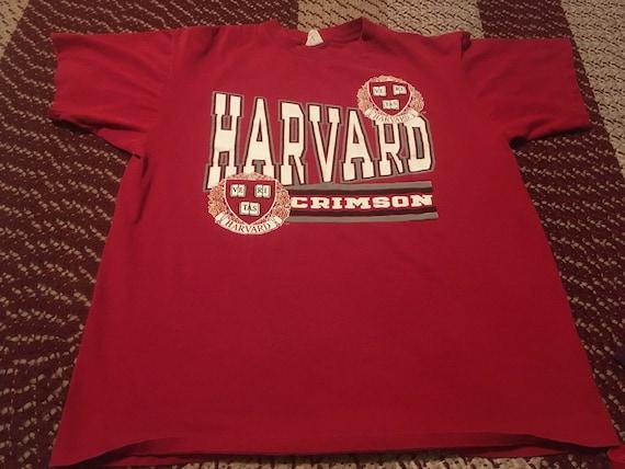 61254b8a098 80s Harvard Crimson vintage t-shirt rare savvy brand 50 50