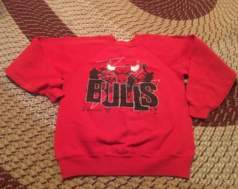 90s Chicago Bulls vintage Hanes crewneck sweatshirt sweater shirt michael Jordan champion jersey sneakers back to back world champions htf