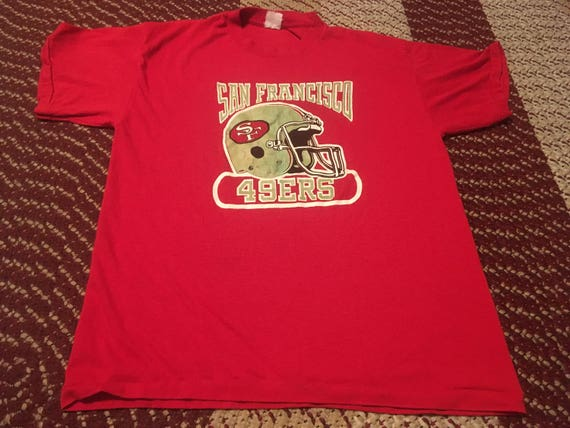 80s San Francisco 49ers vintage t-shirt rare thin super soft  7f5dada92