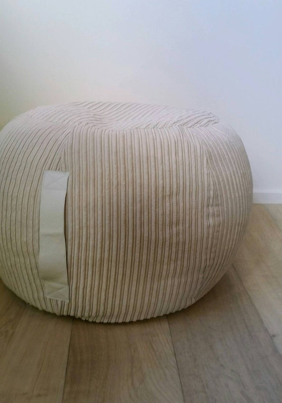 Brilliant Ottoman Pouf Beige Velvet Pouf Neutral Round Pouf Beanbag Pouf Bean Bag Ottoman Neutral Floor Cushion Ottoman Pouf Light Beige Pouffe Gmtry Best Dining Table And Chair Ideas Images Gmtryco