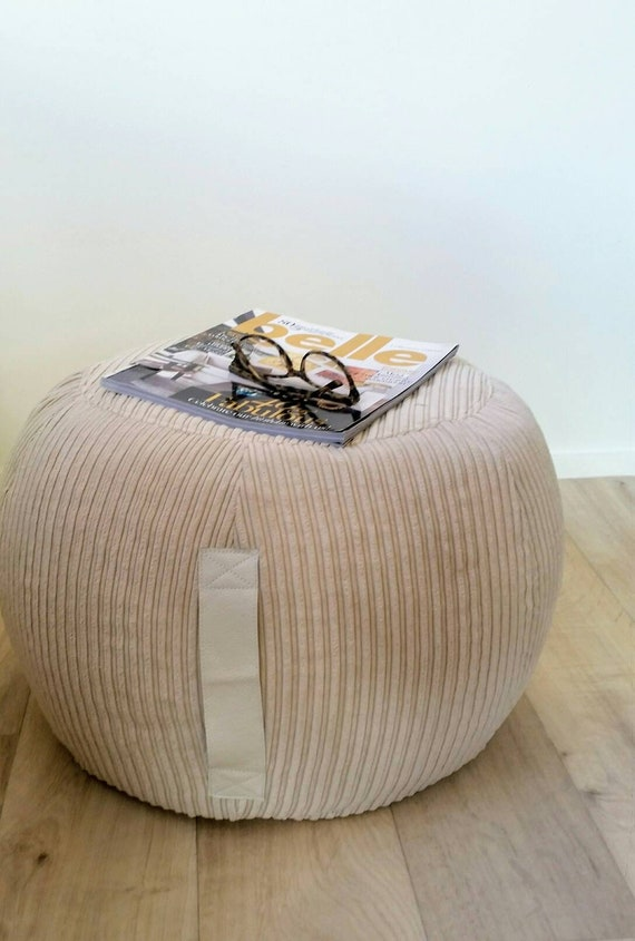 Cool Ottoman Pouf Beige Velvet Pouf Neutral Round Pouf Beanbag Pouf Bean Bag Ottoman Neutral Floor Cushion Ottoman Pouf Light Beige Pouffe Gmtry Best Dining Table And Chair Ideas Images Gmtryco