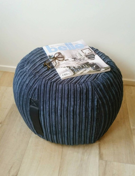 Fantastic Blue Ottoman Pouf Light Navy Corduroy Pouf Round Beanbag Pouf Bean Bag Ottoman Floor Cushion Velvet Ottoman Pouf Denim Blue Pouffe Ibusinesslaw Wood Chair Design Ideas Ibusinesslaworg