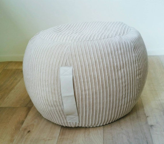 Sensational Ottoman Pouf Beige Velvet Pouf Neutral Round Pouf Beanbag Pouf Bean Bag Ottoman Neutral Floor Cushion Ottoman Pouf Light Beige Pouffe Gmtry Best Dining Table And Chair Ideas Images Gmtryco